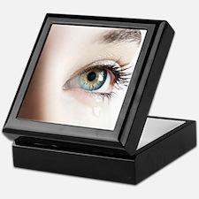 Woman's eye Keepsake Box