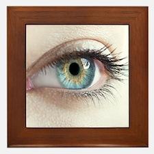 Woman's eye Framed Tile