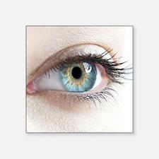"""Woman's eye Square Sticker 3"""" x 3"""""""