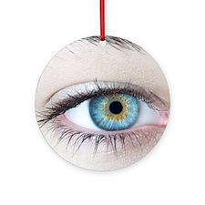 Woman's eye Round Ornament
