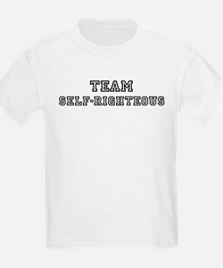 Team SELF-RIGHTEOUS Kids T-Shirt