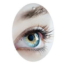 Woman's eye Oval Ornament