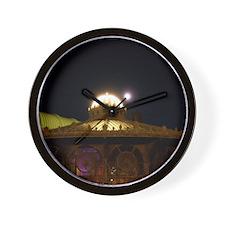 Carousel At Night Wall Clock