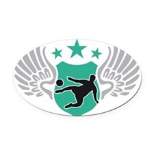 soccer wings Oval Car Magnet