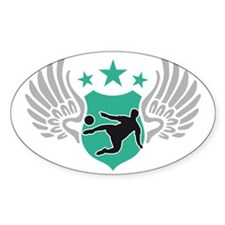 soccer wings Decal