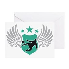soccer wings Greeting Card