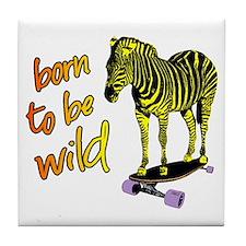 zebra skate Tile Coaster