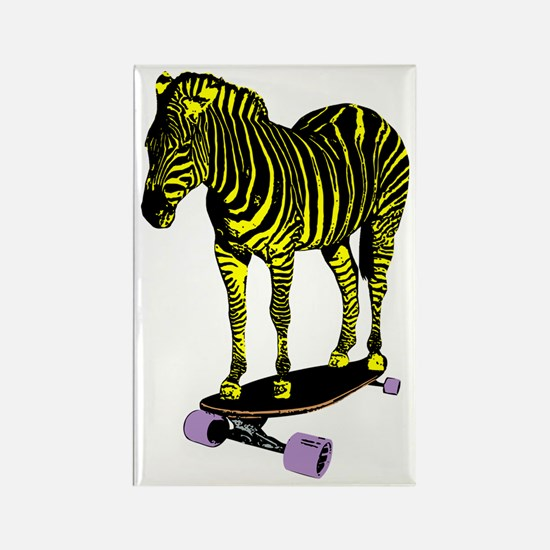 zebra skate Rectangle Magnet