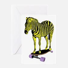 zebra skate Greeting Card