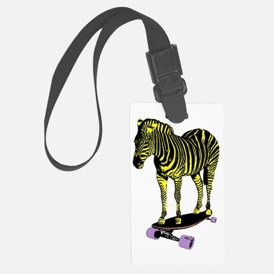 zebra skate Luggage Tag