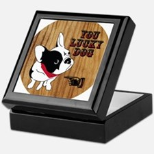 You Lucky French Bulldog with Bandana Keepsake Box