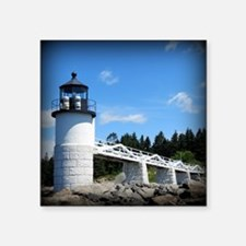 "Marshall Point Lighthouse-  Square Sticker 3"" x 3"""