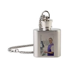 Radiographer Flask Necklace