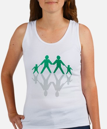 Paper chain family Women's Tank Top