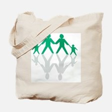 Paper chain family Tote Bag