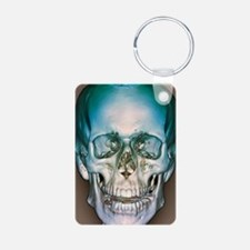Normal skull, 3D CT scan Keychains