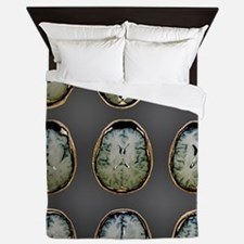Normal brain, MRI scans Queen Duvet