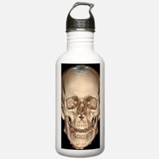Normal skull, 3D CT sc Water Bottle