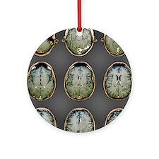 Normal brain, MRI scans Round Ornament