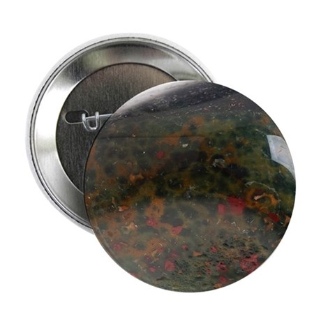 """Heliotrope, or bloodstone 2.25"""" Button"""