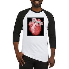 Healthy heart, 3D CT scan Baseball Jersey