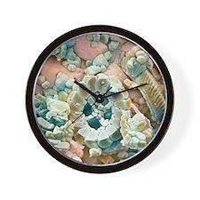 Fossil debris in chalk, SEM Wall Clock