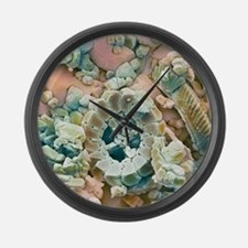 Fossil debris in chalk, SEM Large Wall Clock