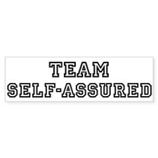 Team SELF-ASSURED Bumper Bumper Sticker