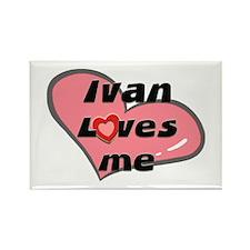 ivan loves me Rectangle Magnet