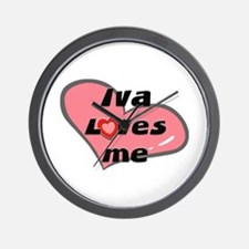 iva loves me  Wall Clock