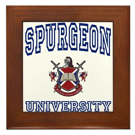 SPURGEON University Framed Tile