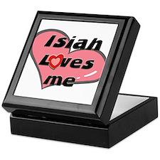 isiah loves me Keepsake Box