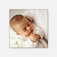 "Baby girl Square Sticker 3"" x 3"""