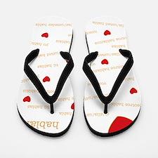 I Love Conjugation Flip Flops