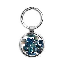 Assortment of Gemstones Round Keychain