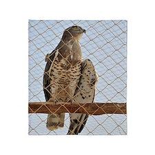 Wounded Goshawk, Accipiter gentilis Throw Blanket