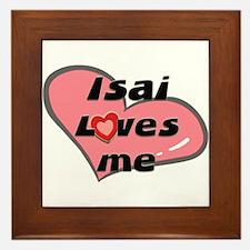 isai loves me  Framed Tile