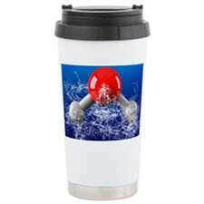 Water molecule Travel Mug