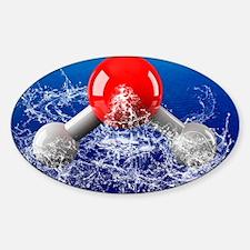Water molecule Decal