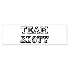 Team ZESTY Bumper Bumper Sticker