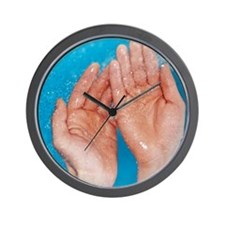 Washing hands Wall Clock