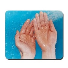 Washing hands Mousepad