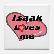 isaak loves me  Tile Coaster