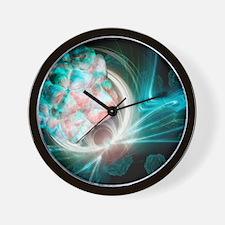Virus research, conceptual artwork Wall Clock