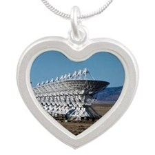 (12) Very Large Array 7511 Silver Heart Necklace