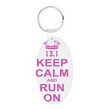 run pink 13.1 Keychains