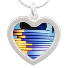 University education Silver Heart Necklace