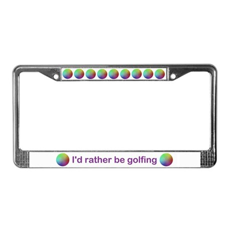 GOLFBOWS License Plate Frame