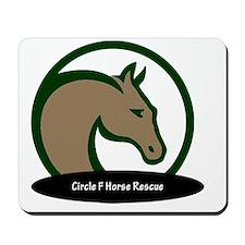 Circle F logo circular text-png Mousepad