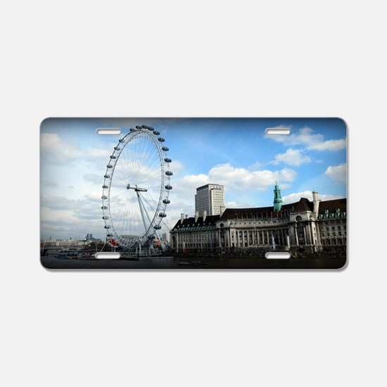 London Eye Aluminum License Plate